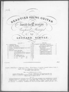 Strauss  Rosa Waltzes opus 20 no. 6, from Beauties for the Guitar tuned in E major . Op. 20