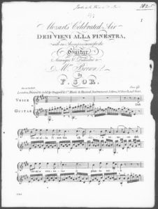 The Celebrated Air Deh Vieni Alla Finestra with an Accompaniment for the Guitar