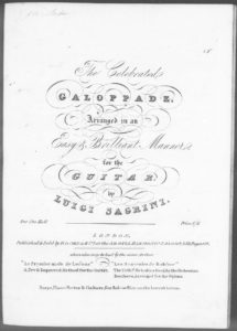 The Celebrated Galoppade, arranged in an Easy  Brilliant Manner for the Guitar