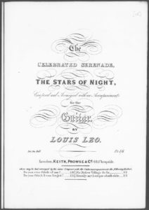 The Celebrated Serenade The Stars of Night, composed and arranged with an accompaniment for the Guitar