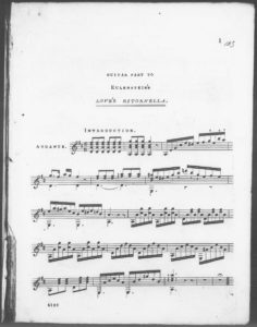 The Favorite Air Love s Ritornella, arranged as a Duet for the Guitar  Piano Forte . Op. 18