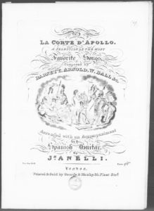 The Little Mountaineer from La Corte d Apollo composed by Barnett, Arnold, W. Ball No. 3
