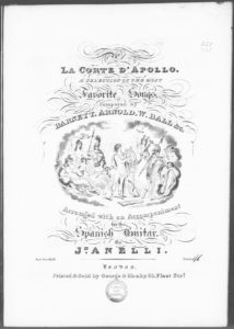 The Minstrel to his Steed from La Corte d Apollo, a Selection of the most Favorite Songs, composed by Barnett No. 1