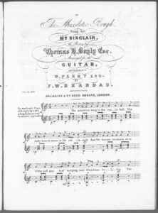 The Missletoe Bough, sung by Mr. Sinclair, the Poetry by Thomas H. Bayly, Esqr., arranged for the Guitar