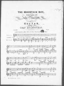 The Mountain Boy, arranged for the guitar