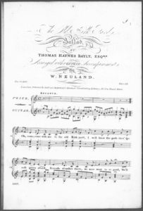 The Old Kirk Yards, Ballad, arranged with a Guitar Accompaniment