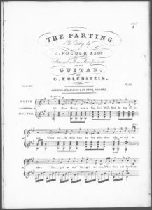 The Parting, the Poetry by J. Pocock, Esqr., arranged with an Accompaniment for the Guitar