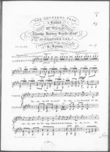 The Soldier s Tear, a Ballad, sung by Mr. Wood, the poetry by Thomas Haynes Bayly, Esqr., arranged for the Guitar Author Lee