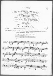 The Spanish Retreat arranged for the Spanish Guitar