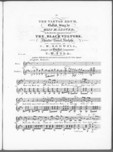 The Tartar Drum, Balad sung by Miss M. Glover, in the Favorite Romantic Drama of The Black Vulture, at the Theatre Royal, Adlephi, arranged with Guitar Accompaniment