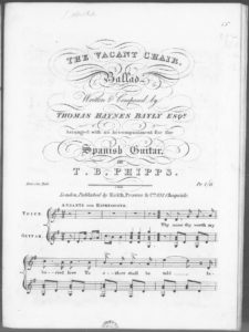 The Vacant Chair, Ballad  Arranged with an Accompaniment for the Spanish Guitar