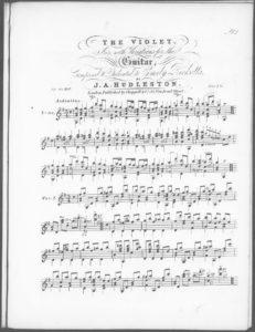 The Violet  Air, with Variations for the Guitar