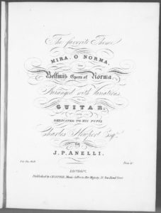 The favorite Theme Mira O Norma from Bellini s Opera of Norma