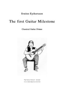 The first guitar milestone Method for beginners. Drawings by Jean Antoine Posocco