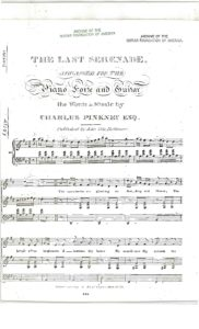 The last serenade arranged for the pianoforte and guitar