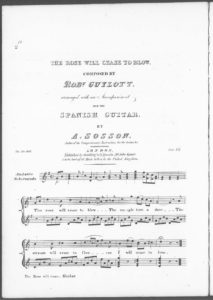 The rose Will Cease to Blow, arranged with an accompaniment for the Spanish Guitar