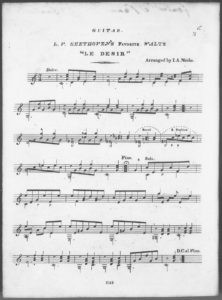 Three Favorite Melodies for the Piano-forte  Guitar. No. 3. L. V. Beethoven s Favorite Waltz