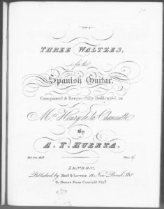 Three Waltzes for the Spanish Guitar