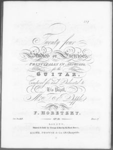 Twenty four studies or exercises principally in arpeggio for the guitar, op. 30