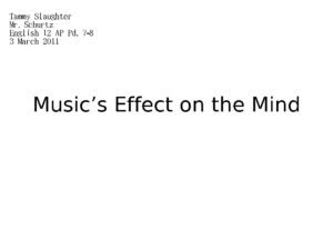 Music s Effect on the Mind