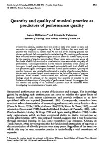 Quantity and Quality of Musical Practice